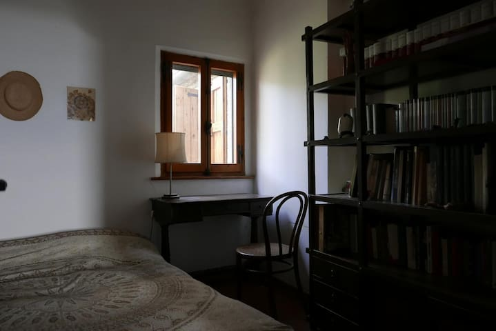 room with books