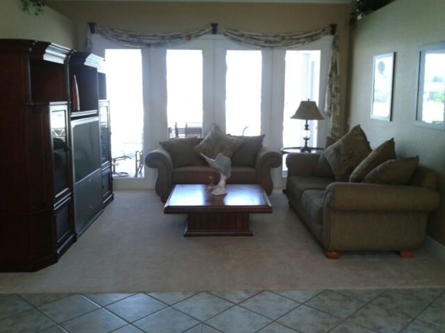 Formal living room with sofa bed
