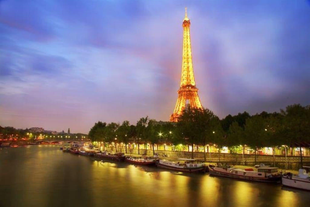Close to the Seine & Eiffel Tower