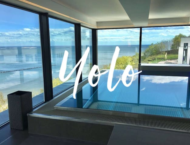 FIRST Sellin. Appartement YOLO. Sauna, Pool & Meer