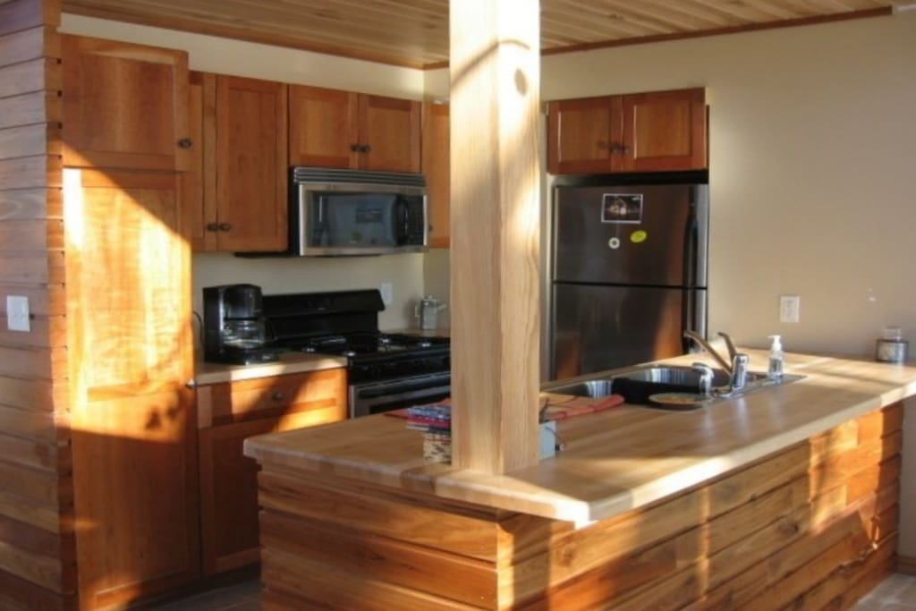 Kitchen is fully equipped for your group to prepare meals.