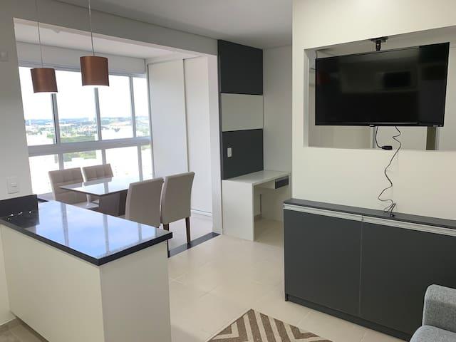 Apartamento Mobiliado, novo, Luxo.