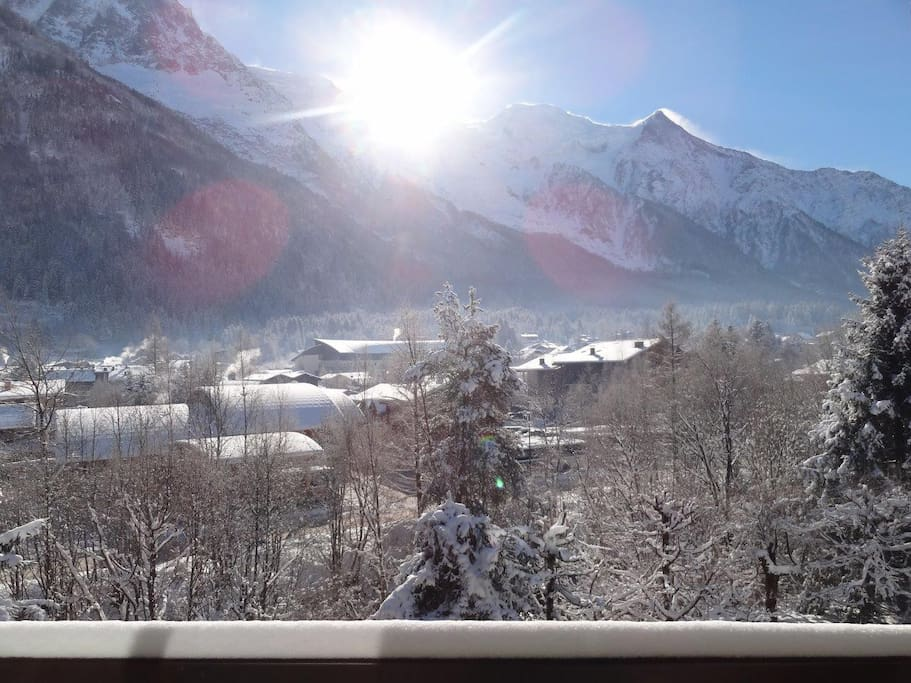 View from the balcony in winter