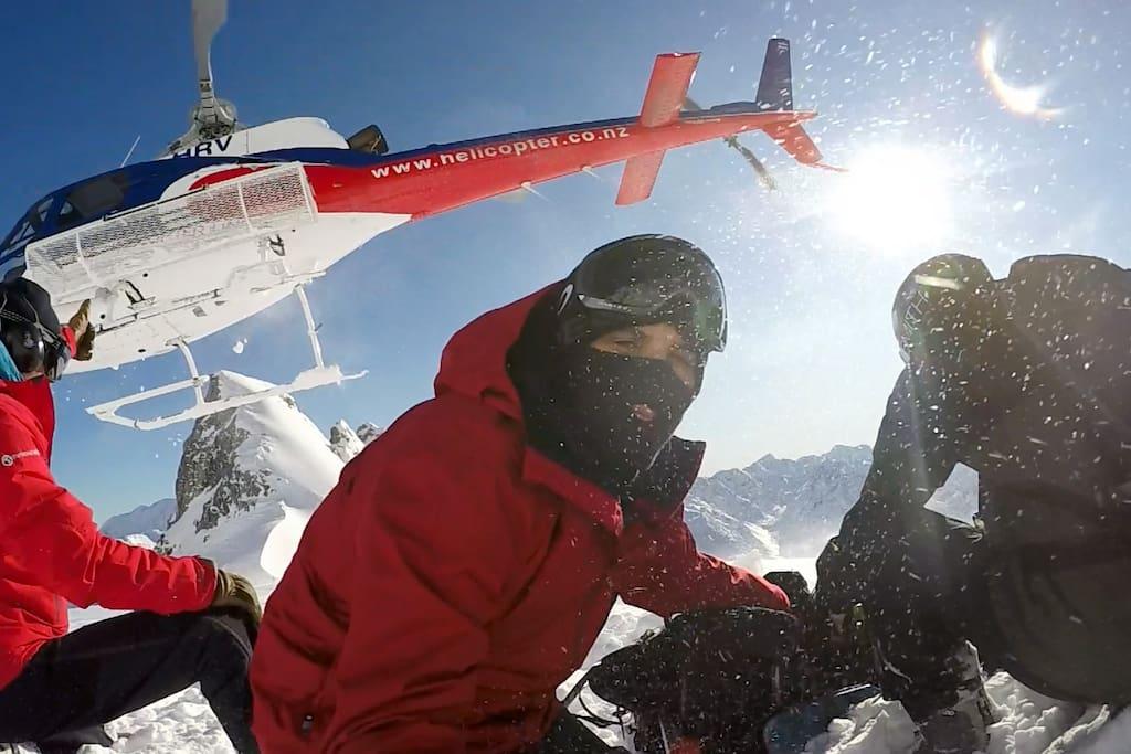 heli ski methven