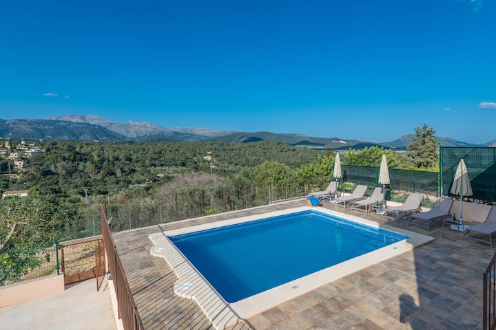 CAN JAUME FUSTER - Great house with breath-taking views and private pool