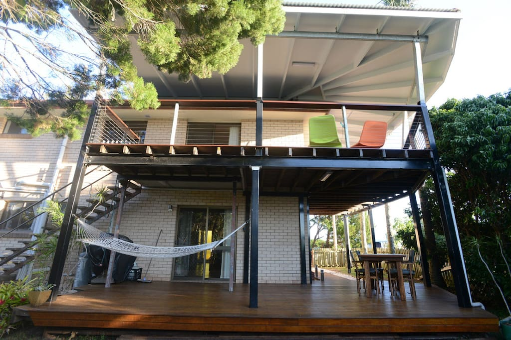 Private decks on both levels!