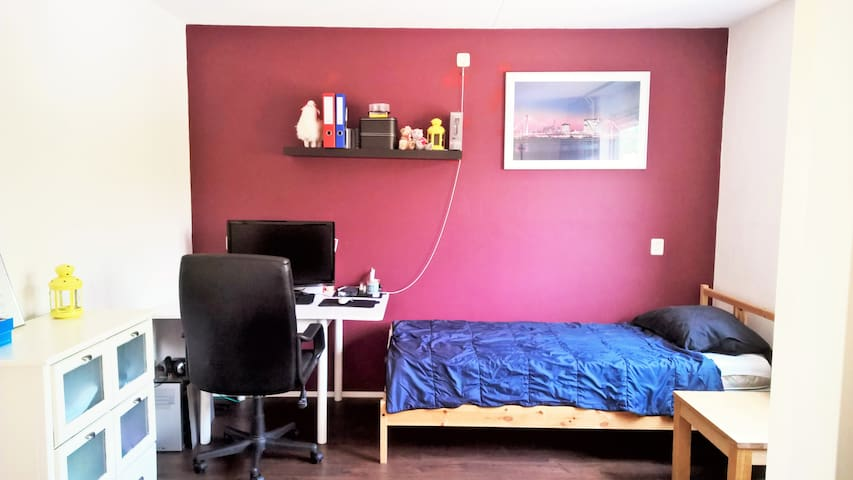 Peaceful room in tiny village 15km from Amsterdam - Amstelveen - Apartemen