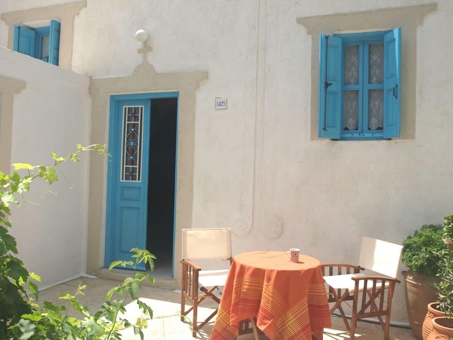 The front door of Tsampika home.