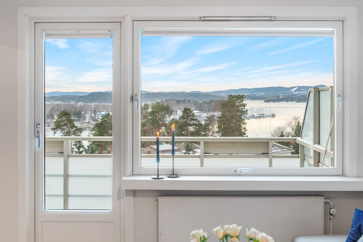 Apartment with sea view, close to Oslo and Fornebu