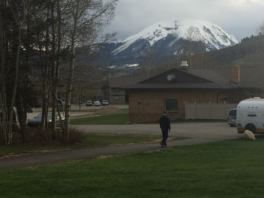 View of Buffalo Mountain and looking at clubhouse