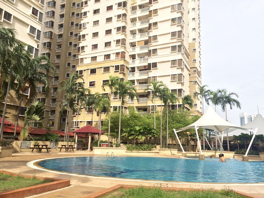 Swimming pool at our condo