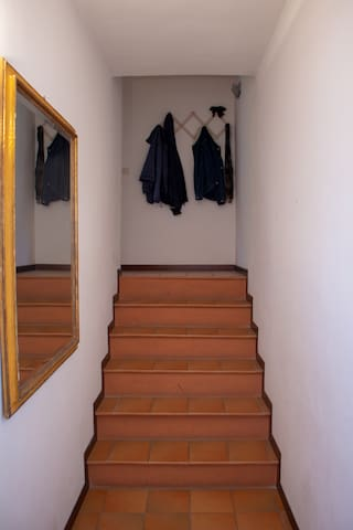 Stairs inside the apartment