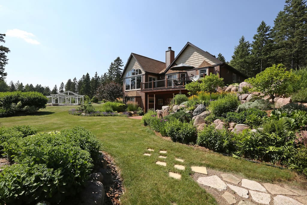 Chalet is set in the middle of a beautifully landscaped garden
