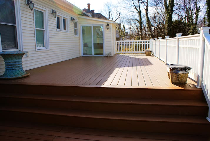 The huge deck leads to your private entrance