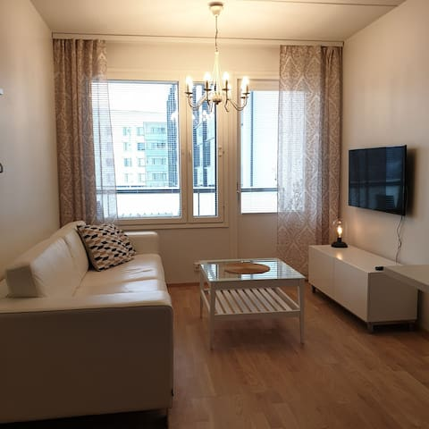 Peaceful 40m2 apartment next to the railwaystation
