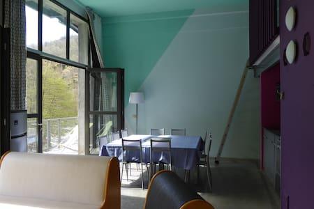 Loft XL, idéal pour grandes familles ou entre amis - Antraigues-sur-Volane - Condominium - 1