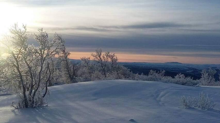 Utsikt mot Skurdalen og Hardangervidda fra Ruperanden