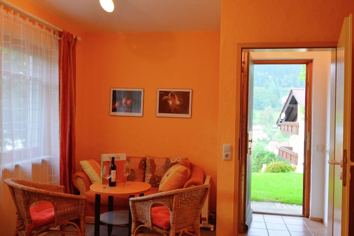 Modern ground floor apartment with southern exposure in the gorgeous Fichtel Mountains