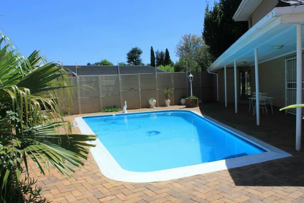 Bright, sparkling pool