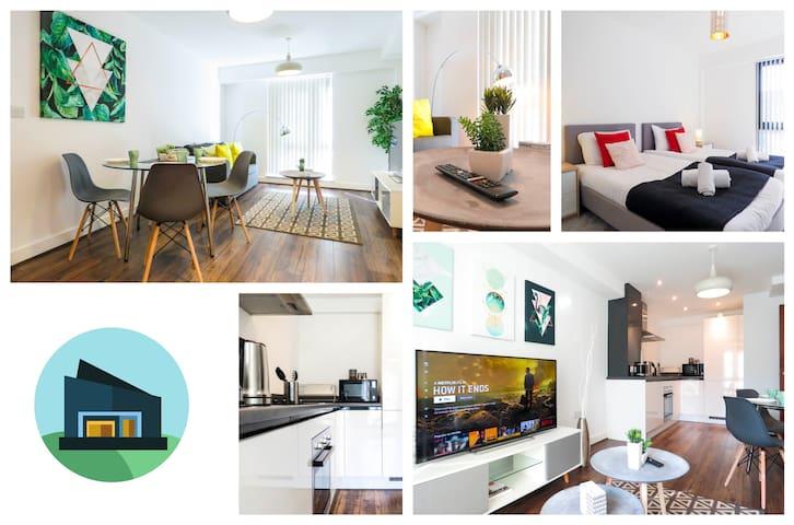 eSuites Fabrick Apartments Twin Bedroom