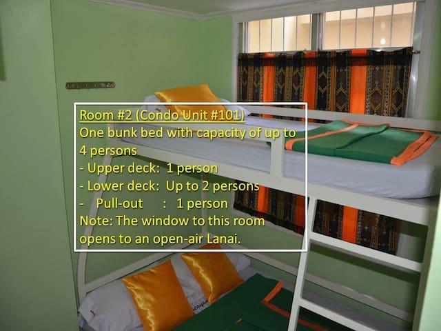 Budget Room for 4 in City Proper/Condo 101-2/Fiber