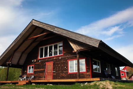 Spacious lodge in Swedish Lapland close to water