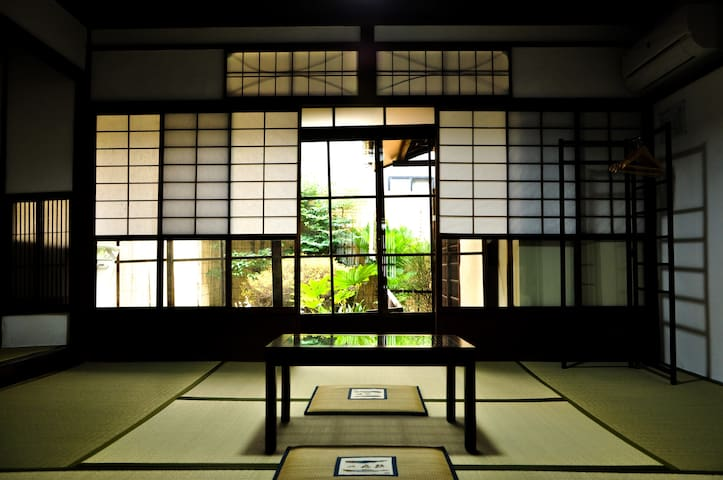 100 years old TATAMI Room with Garden and toilet.