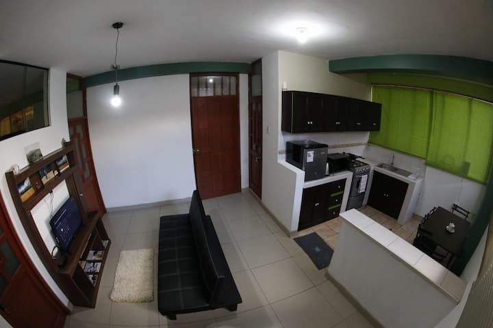Cozy apartment in front of the San Blas Market