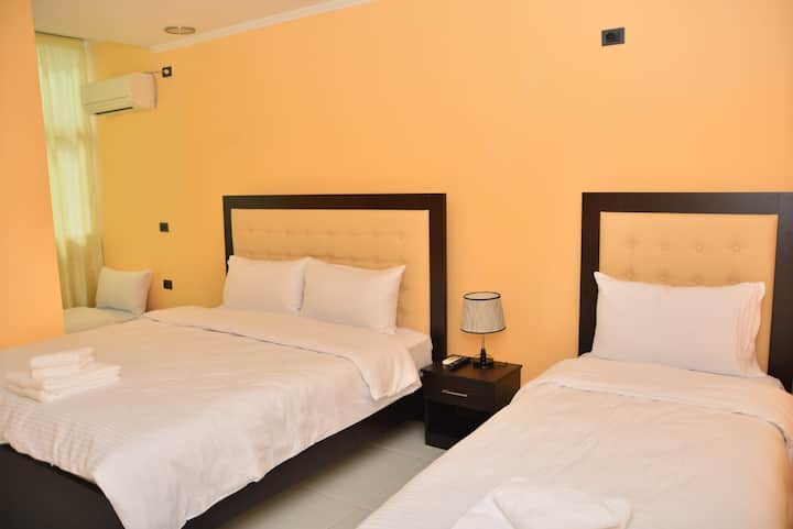 Room for 3 in Hotel Vjosa.