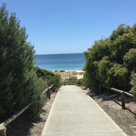 Walkway to the lovely beach