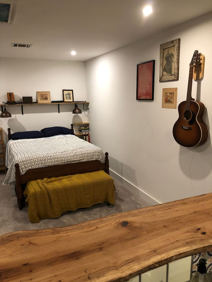Full Bed, looking from kitchen.