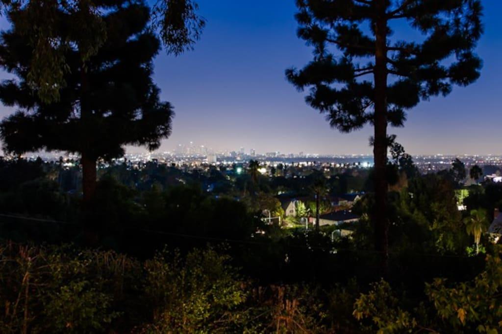 Awesome views of downtown LA skyline