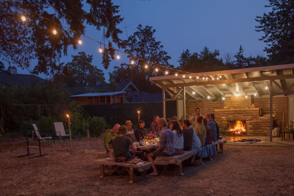 Spend an evening wining & dining in our spacious urban backyard.
