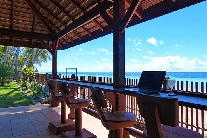 Chill out with an ice cold beer or a lime juice in our beachfront restaurant