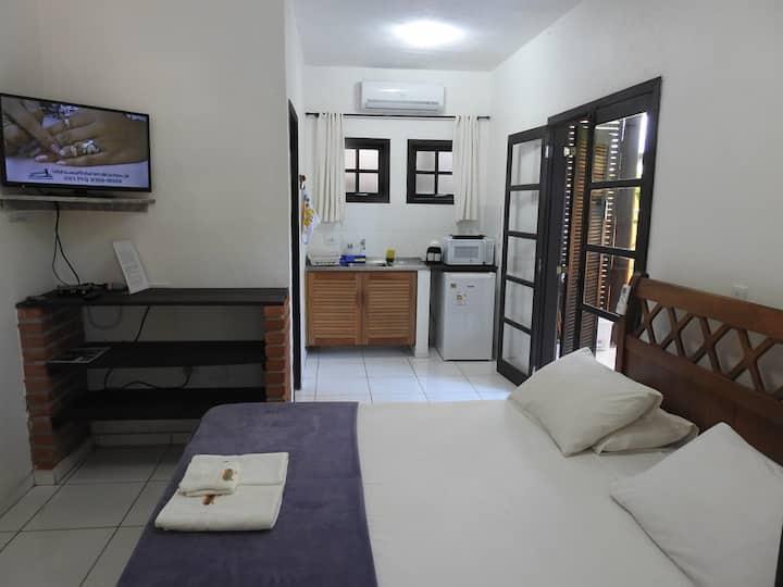 Primavera comfort · Home Oficce pertinho da praia, cama, queen size, cozinha compactas da praia e restaurantes,  Ca