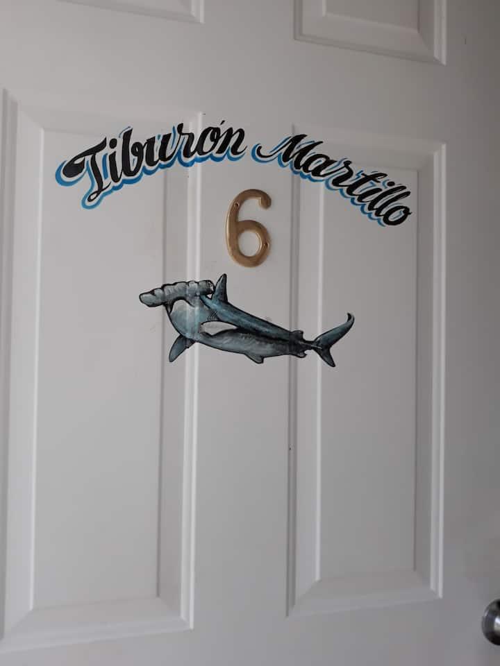 """6"" ""Tiburón Martillo"" Squalo's place."
