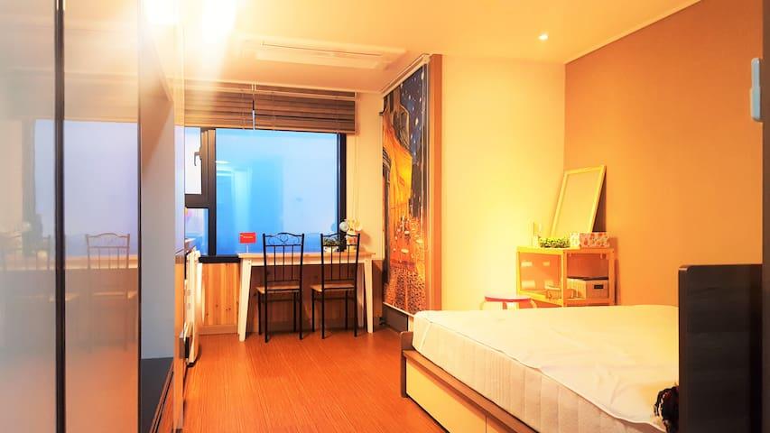 서귀포 금이하우스2,Gold Entire House,Queen Bed, 有中文版 - Gimjeongmunhwa-ro41beon-gil, Seogwipo-si - Apartamento