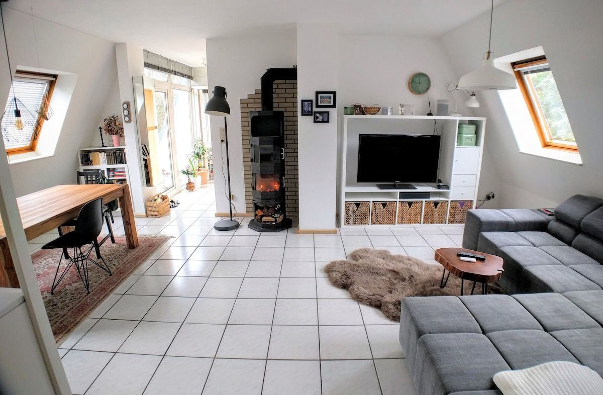 Cosy flat with fireplace and gym shared flat apartments for