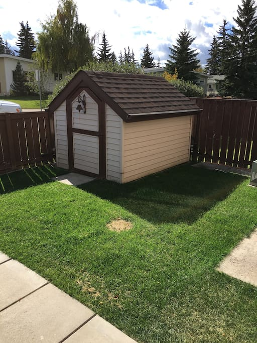 shed for bikes or strollers