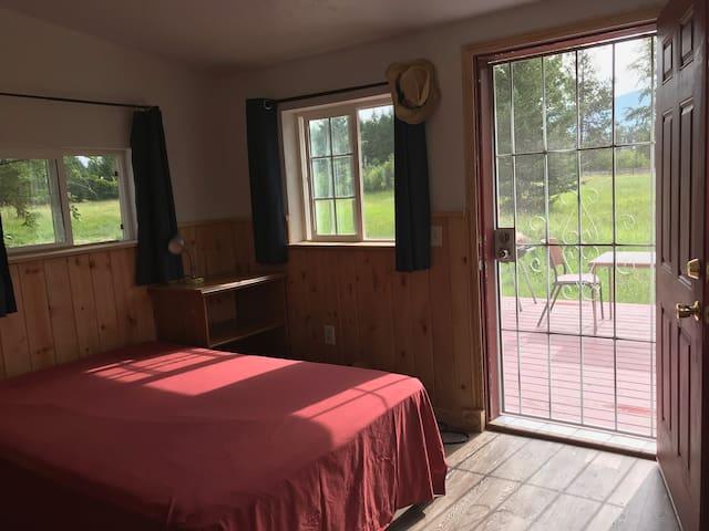 Bedroom to back deck