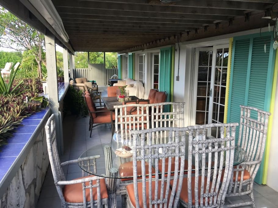 Full view of front porch