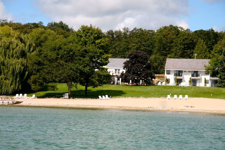 The only Beachfront  Inn and Bistro , Lake views