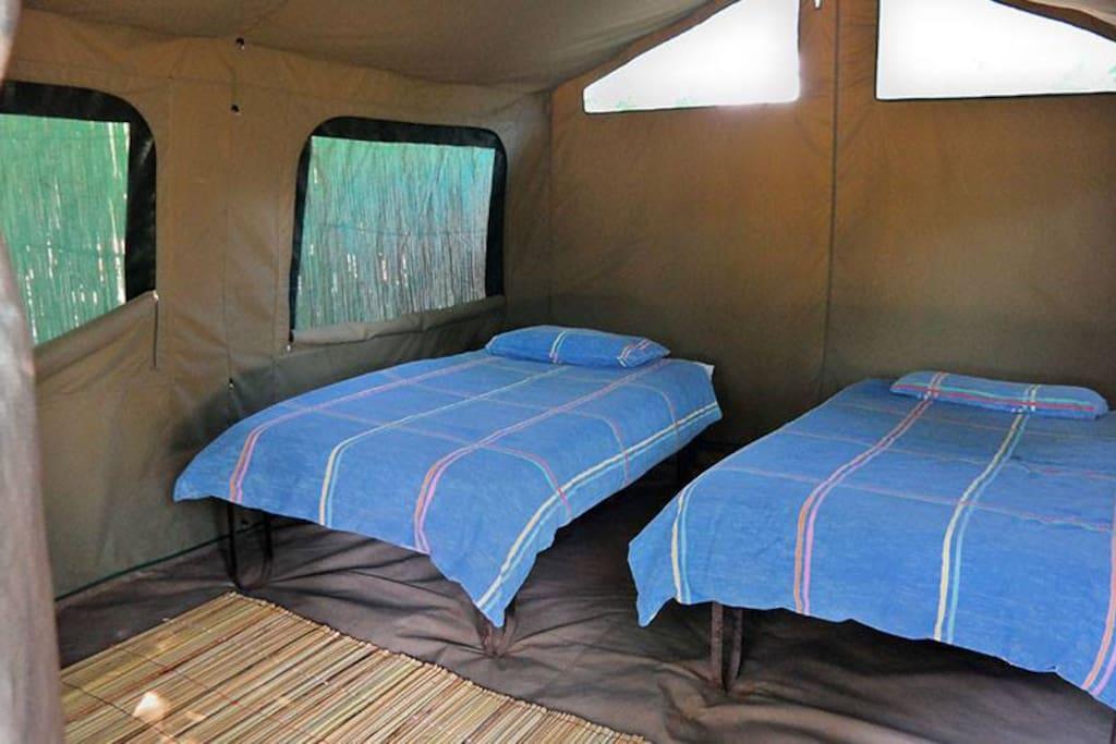 The interior of Safari Tents