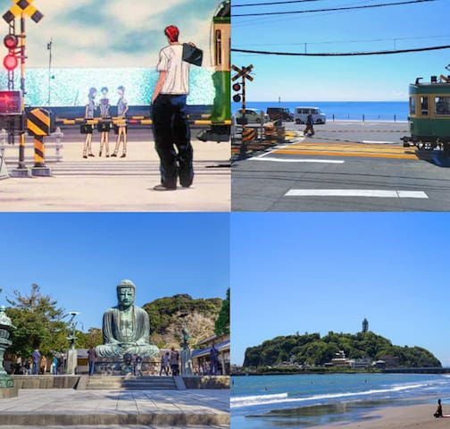 Shonan:Popular spots for young people and families, including Enoshima and Kamakura, are also in abundance. Please use it for play and a date while looking at magnificent scenery with natural overflowing and open feeling!