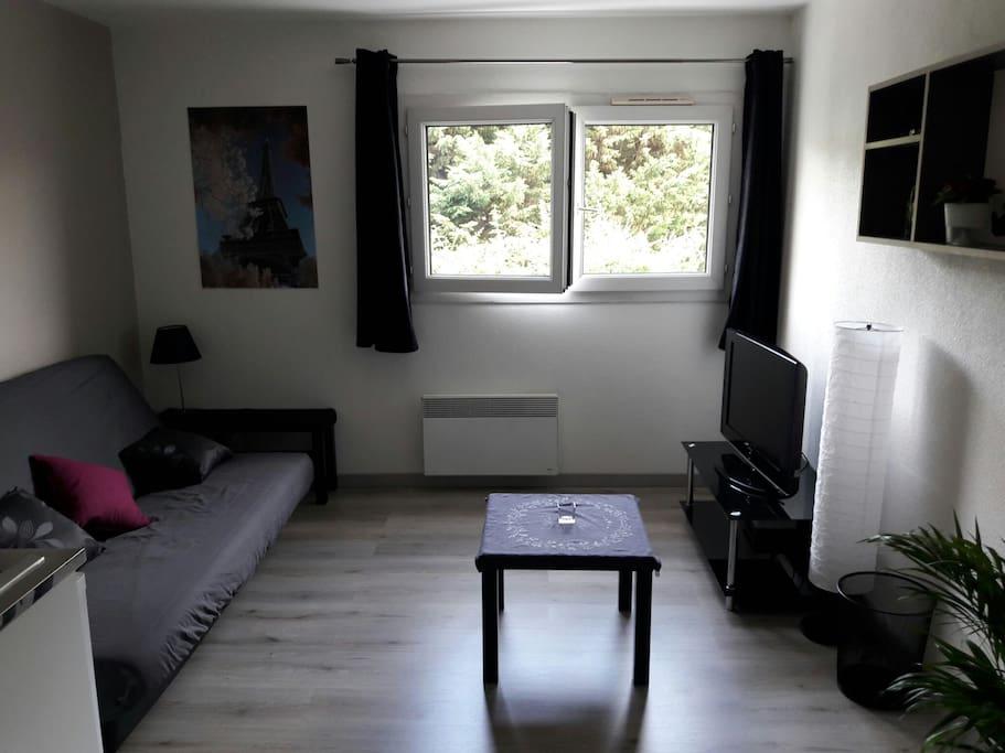 petit studio entre paris et disney appartements louer champs sur marne le de france france. Black Bedroom Furniture Sets. Home Design Ideas