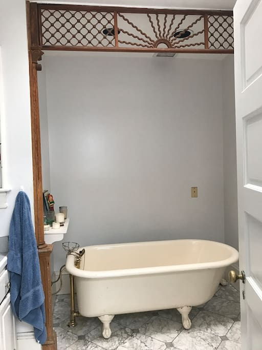 Bathroom (tub pictured, also double shower)
