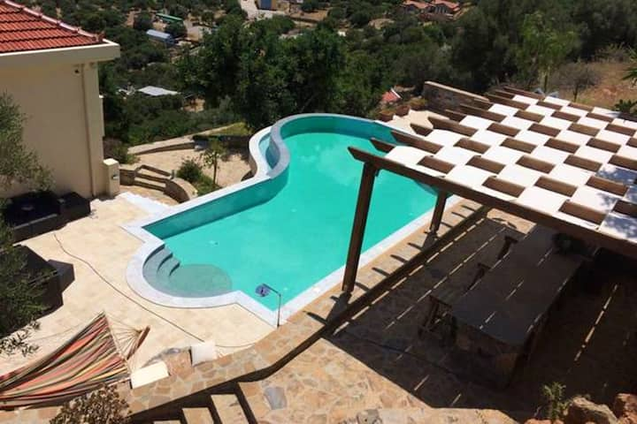 Villa with 4 bedrooms in Kato Pine, with wonderful sea view, private pool, terrace - 2 km from the beach