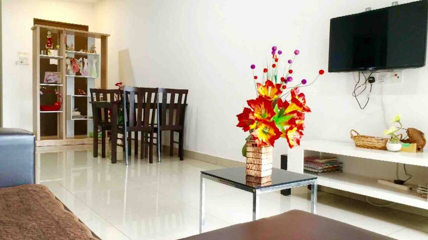 Spacious living room suitable for family and couples travelling to Ipoh
