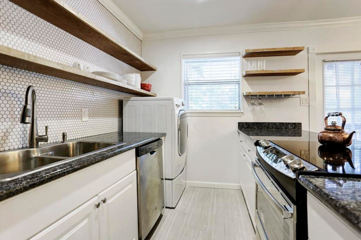 Spacious storage and top of the line appliances
