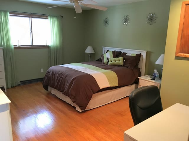 Private bedroom in tri-level home - Zionsville - Huis